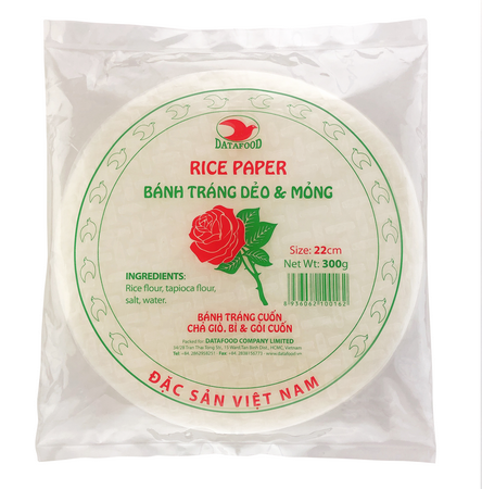 BTBH0162 - Rose Brand - Rice Paper Size 22cm - Datafood Vietnamese food exporter