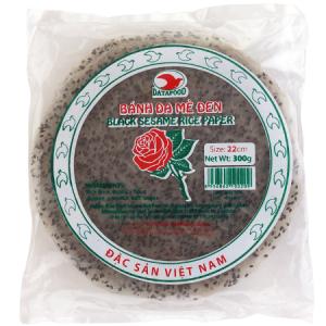 MDDT0209 - Black Sesame Rice Paper - Banh Da Me Den - Datafood Vietnamese food exporter