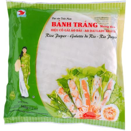 BTCG6058 - Ao Dai Lady - Rice Paper 22cm - Banh Trang size 22cm - Datafood Vietnamese food exporter