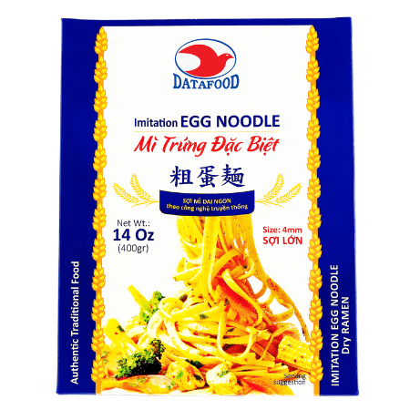 MTDT6579 - Imitation Egg Noodle (size 4mm) - Datafood Vietnamese food exporter